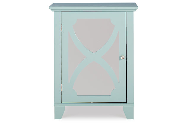 Winter Single Door Cabinet with Mirror Door, , large