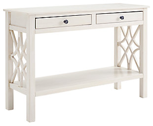 Whitley Antique Finish Console Table, , large