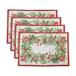 Holly Traditions Holiday Placemats, 13x19 (Set of 4), , large