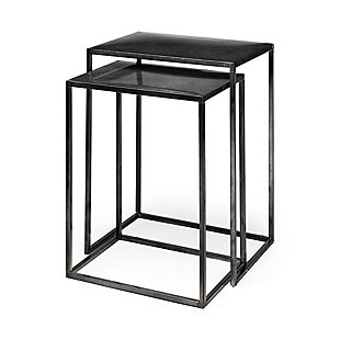 Mercana Kasey Galvanized Metal Nesting Accent Tables (Set of 2), , rollover