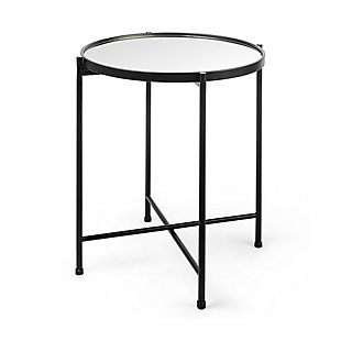Mercana Samantha Small Black Mirror Top  Accent Table, , large