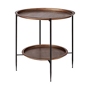 Mercana Dustin Round Tray Top And Black Frame Accent Table, , large