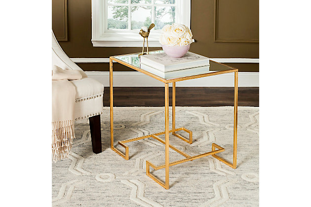 Leti Greek Key Accent Table, , large