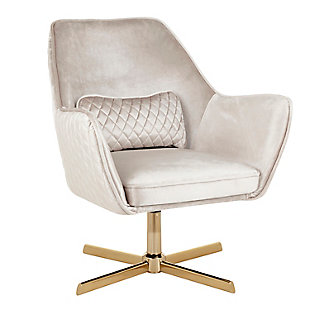 LumiSource Diana Lounge Chair, Gold/Champaign, large