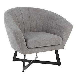 LumiSource Portman Club Chair, Black/Gray, large