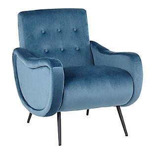 LumiSource Rafael Lounge Chair, Black/Teal, large