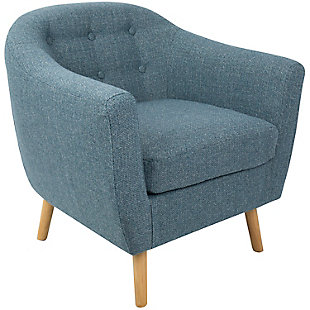 LumiSource Rockwell Accent Chair, Natural/Blue, large