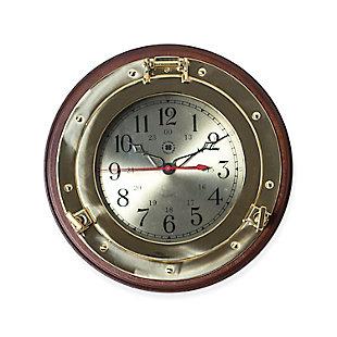 BEY-BERK Jackson Porthole Wall Clock, , large