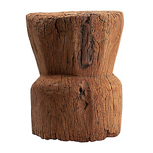AB Home Antique Round Wooden Low Stool, , large
