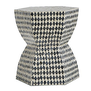 AB Home Hexagonal Pedestal Stool, , large