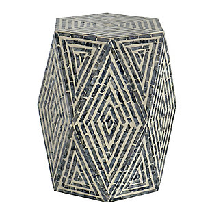 AB Home Hexagon Pedestal Stool, , large