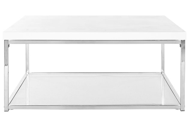 Malone Coffee Table, White, large