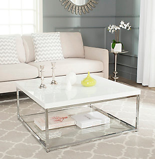 Malone Coffee Table, White, rollover