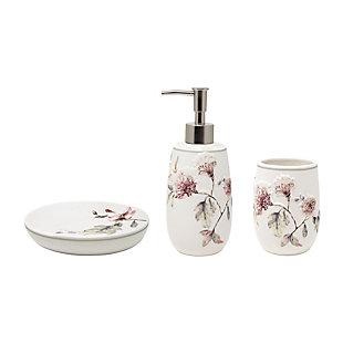 Croscill 3-piece Bathroom Accessory Set (Lotion Dispenser, Tumbler, and Soap Dish),  Multicolor, , large