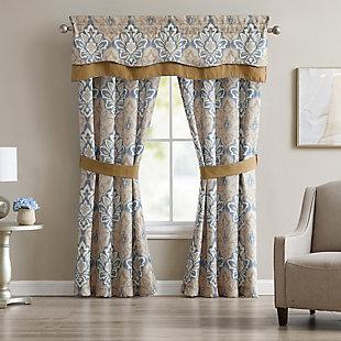 Croscill Captain's Quarter Curtain Panel Pair, , large