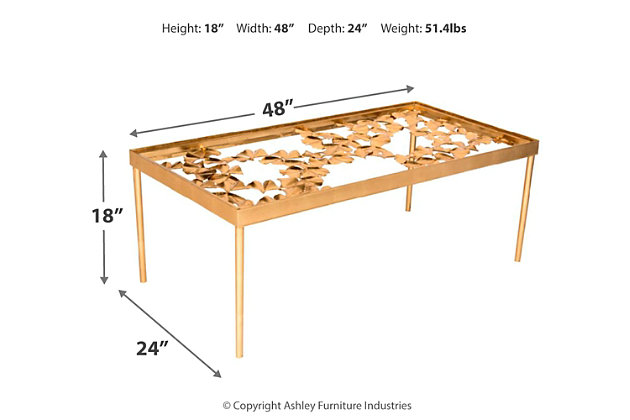 Otto Ginkgo Coffee Table, , large