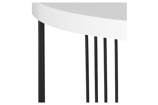 Keelin Mid Century Coffee Table, White, large