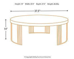 Keelin Mid Century Coffee Table, Beige, large