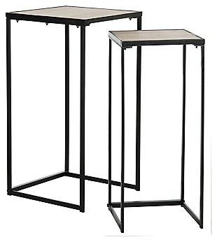 Ryne Mid Century Stacking End Table (Set Of 2), , large