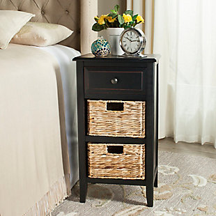 Everly Side Table, Distressed Black, rollover