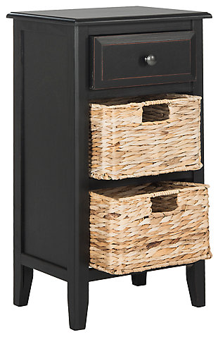 Everly Side Table, Distressed Black, large