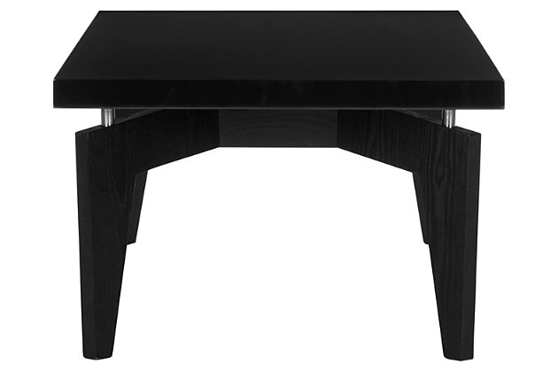 Josef Retro Floating Top Coffee Table, Black, large