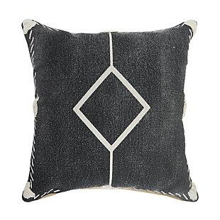 LR Home Rocco Single Diamond Throw Pillow, , large