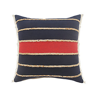LR Home Lotte Striped with Jute Braids Pillow, , large