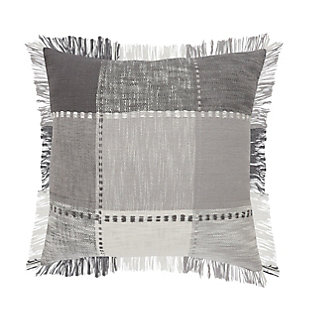 LR Home Grayscale Patchwork Plaid Throw Pillow, , rollover