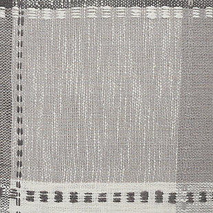 LR Home Grayscale Patchwork Plaid Throw Pillow, , large