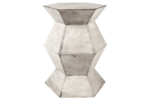 Flanery Flanery Waxed Concrete Accent Table, , large
