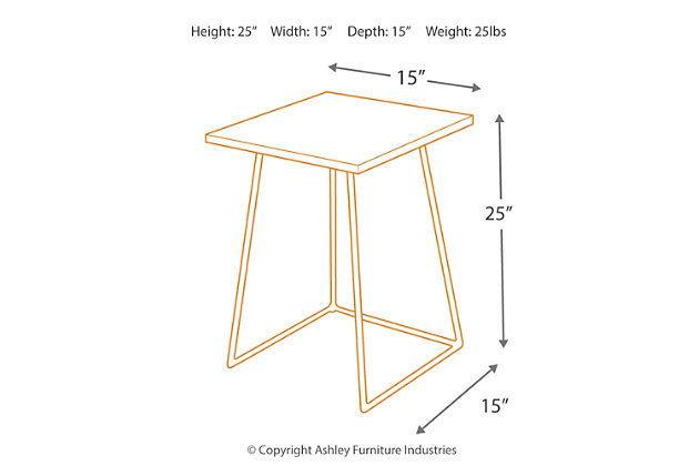 Linear Concrete Accent Table, , large
