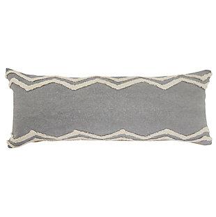 LR Home Border Chevron Striped Lumbar Pillow, , large
