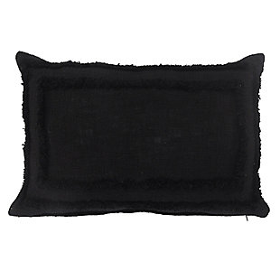 LR Home Kenne Solid Tufted Lumbar Throw Pillow, , large