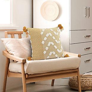 LR Home Solrig Poms Throw Pillow, , rollover