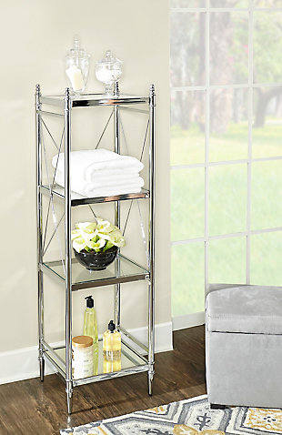 Skylar Pinnacle Four Tier Shelf, , rollover