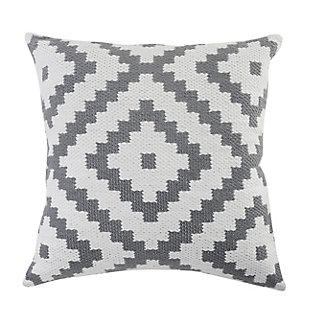 LR Home Cai Geometric Outdoor Throw Pillow, , large
