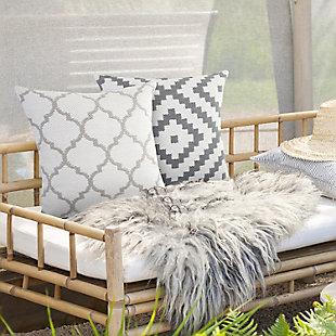 LR Home Mya Quatrefoil Outdoor Throw Pillow, , rollover