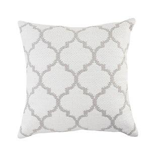 LR Home Mya Quatrefoil Outdoor Throw Pillow, , large