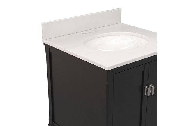 """Atwater Living Rosemary Bathroom 24"""" Vanity, Black, large"""