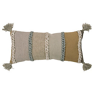 Rizzy Home Braided Stripe Throw Pillow, , large
