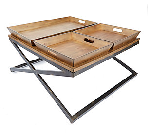 Calhoun Calhoun Industrial Collection Coffee Table, , large