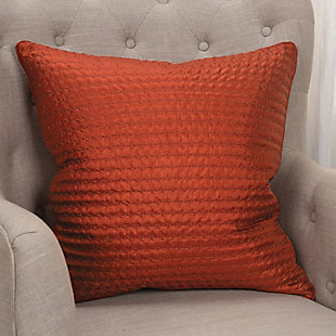 Rizzy Home Textured Solid Throw Pillow, Rust, rollover
