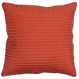 Rizzy Home Textured Solid Throw Pillow, Rust, large