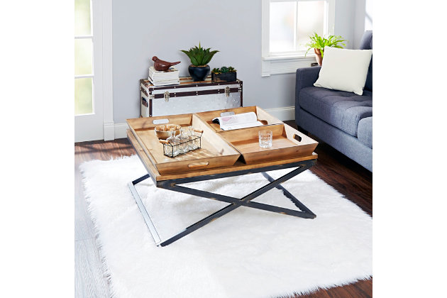 Calhoun Industrial Collection Coffee Table, , large