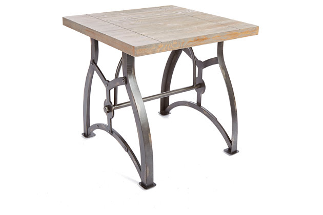 Beckett Industrial Collection End Table, , large