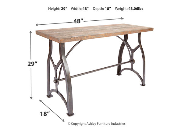Beckett Industrial Collection Console Table, , large