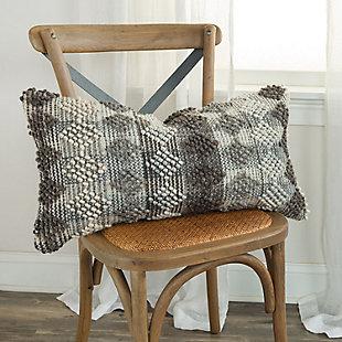 Rizzy Home Diamond Stripe Throw Pillow, , rollover