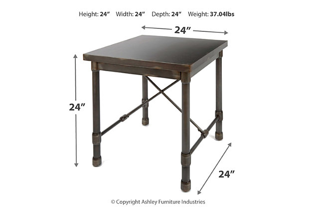 Oxford Industrial Collection End Table, , large