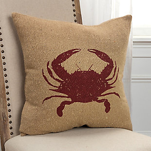 Rizzy Home Crab Throw Pillow, , rollover